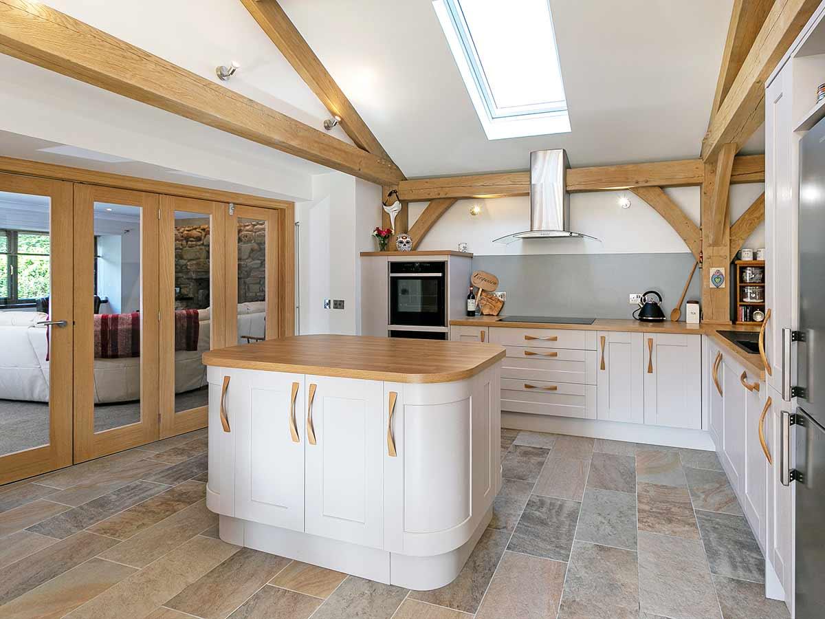 Kitchen with oak beams