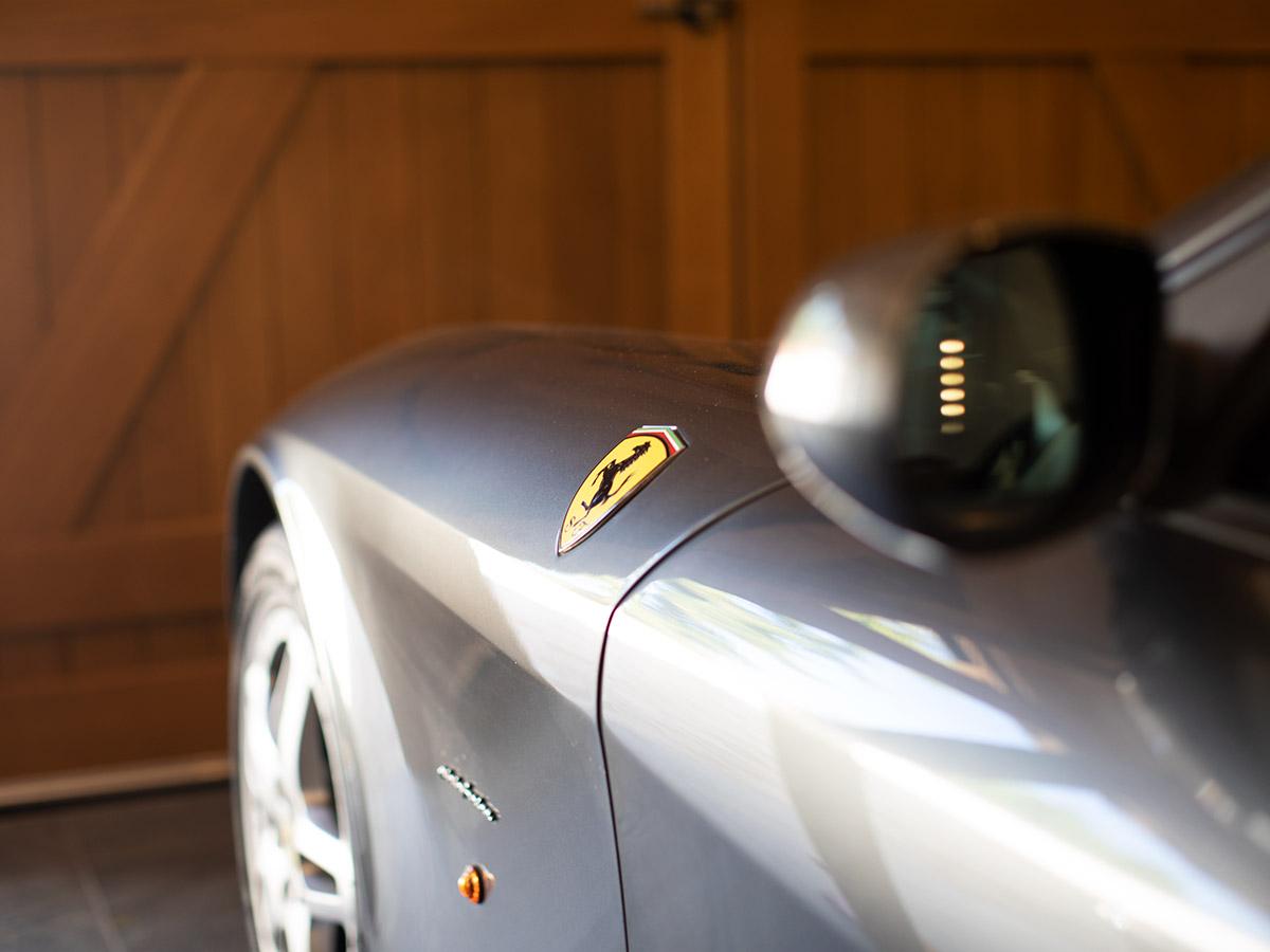 Porsche in garage