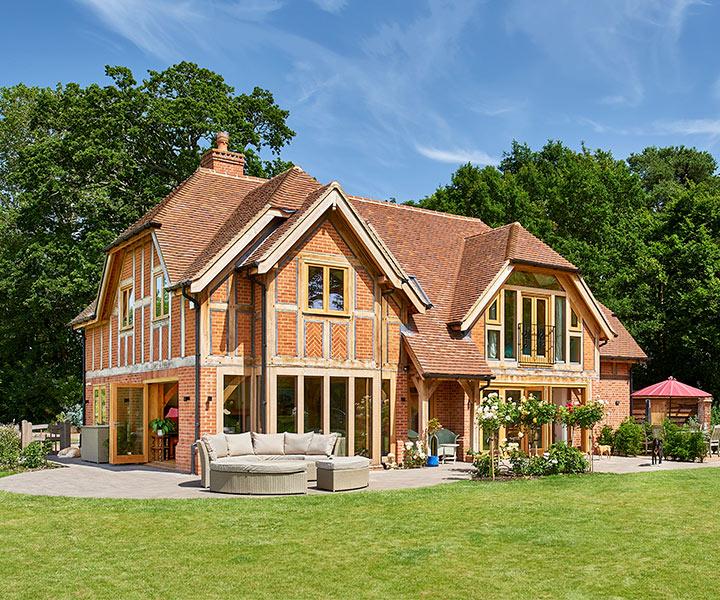 Oak house design based on The Woodhouse range